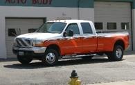 white-and-orange-truck
