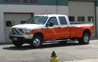 white-and-orange-truck